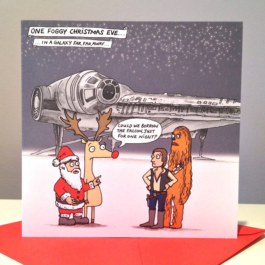 Star Wars Millennium Falcon Christmas Cards By Cardinky