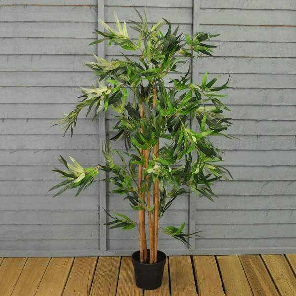 large artificial bamboo plant
