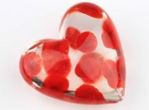 nine mini glass decorative hearts by nest ...