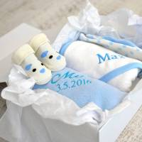 personalised new baby boy gift hamper by a type of design ...