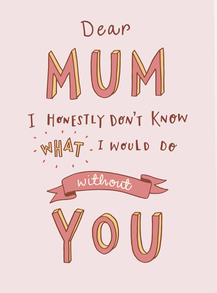 Thank You Mum Card By Jen Roffe Notonthehighstreet Com