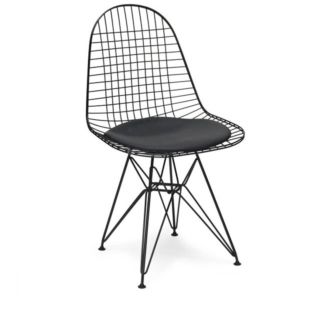 Black Wire Chair Chair Metal Eames Style Dkr Wire Mesh Chair By Cielshop