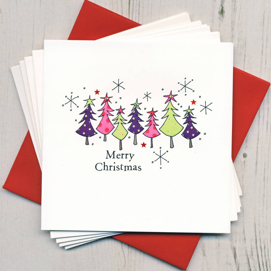 Pack Of Five Christmas Cards By Eggbert Amp Daisy