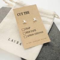 'cut the' scissors silver earrings by wue ...