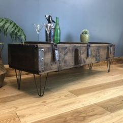 Retro Living Room Coffee Table On Round And Industrial Tables Notonthehighstreet Com Upcycled Vintage Wooden Trunk