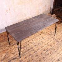 hairpin legs industrial style dining table by cosywood ...