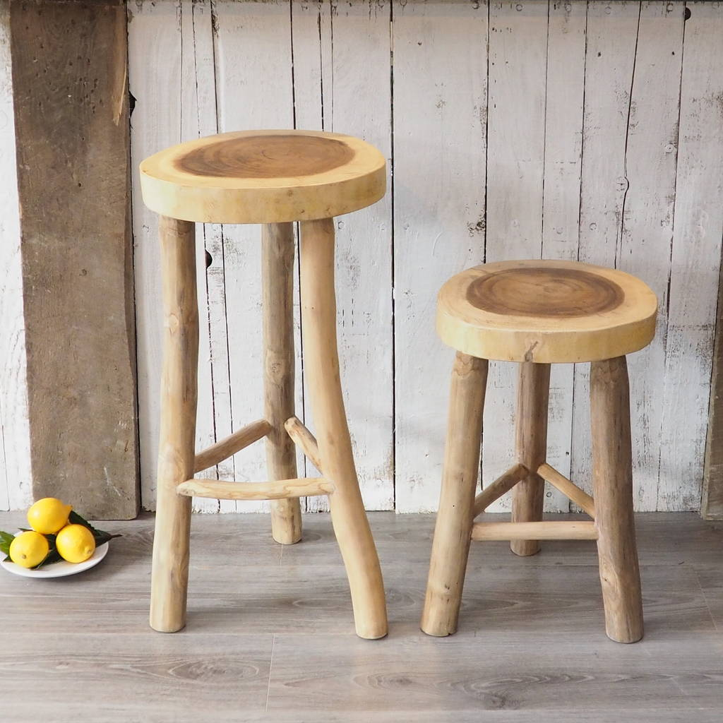 wooden kitchen stools how much does it cost to remodel a stool two sizes by za homes