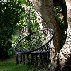 Hanging Chair Notonthehighstreet Single Ale Grey Macrame By Ella James