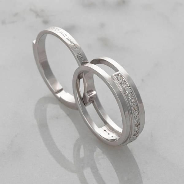 'save Finger' Secret Message Engagement Ring Ormolu