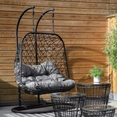 Hanging Chair Notonthehighstreet Blue Dining Chairs Garden Com Double Indoor Outdoor Macrame Furniture