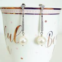 vintage style pearl earring by tallulahs trinkets ...