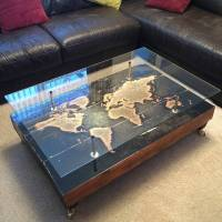 handmade vintage world map coffee table by lime lace ...