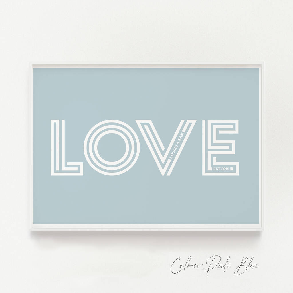 Love Print With Hidden Personalised Secret Message By