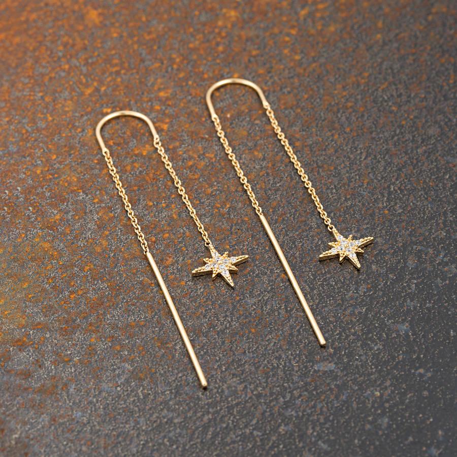 starburst threader earrings by scream pretty