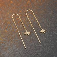 starburst threader earrings by scream pretty