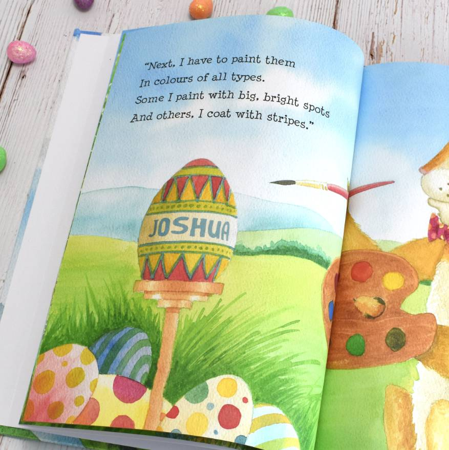 personalised easter bunny book