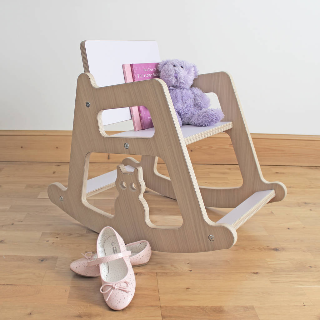 toddler wooden rocking chair fabric material personalised children 39s by kids