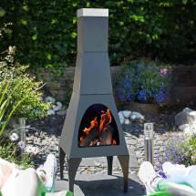 Chiminea Outdoor Patio Heater Chimeneas Bbq Grill & Log