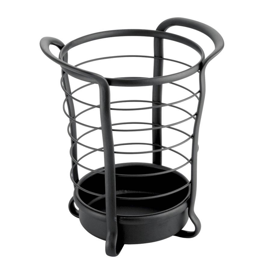 black utensil holder by jodie byrne