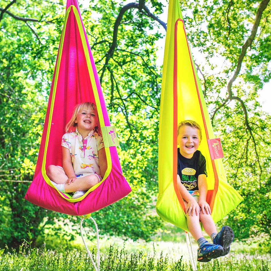 hanging chair notonthehighstreet best chairs geneva glider espresso wood grey velvet hang about kids by fieldcandy com