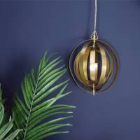 brass globe pendant light by miafleur | notonthehighstreet.com