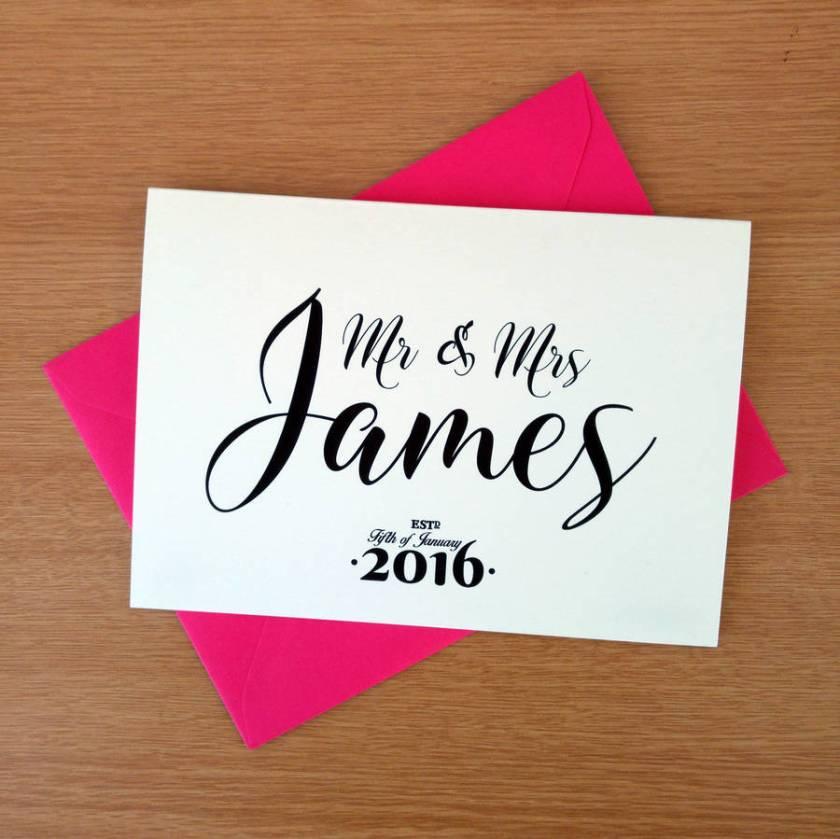 Personalised Wedding Congratulations Card Cards