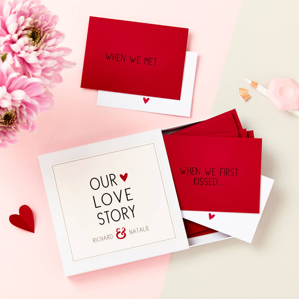 'our Love Story' Messages Gift Box By Martha Brook