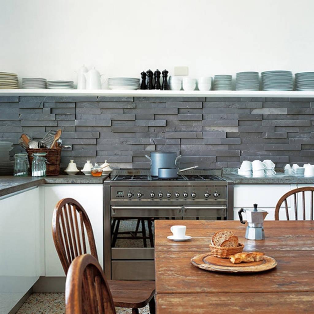 slate tiles kitchen walls backsplash wallpaper