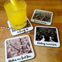 personalised retro style drinks coasters by instajunction ...
