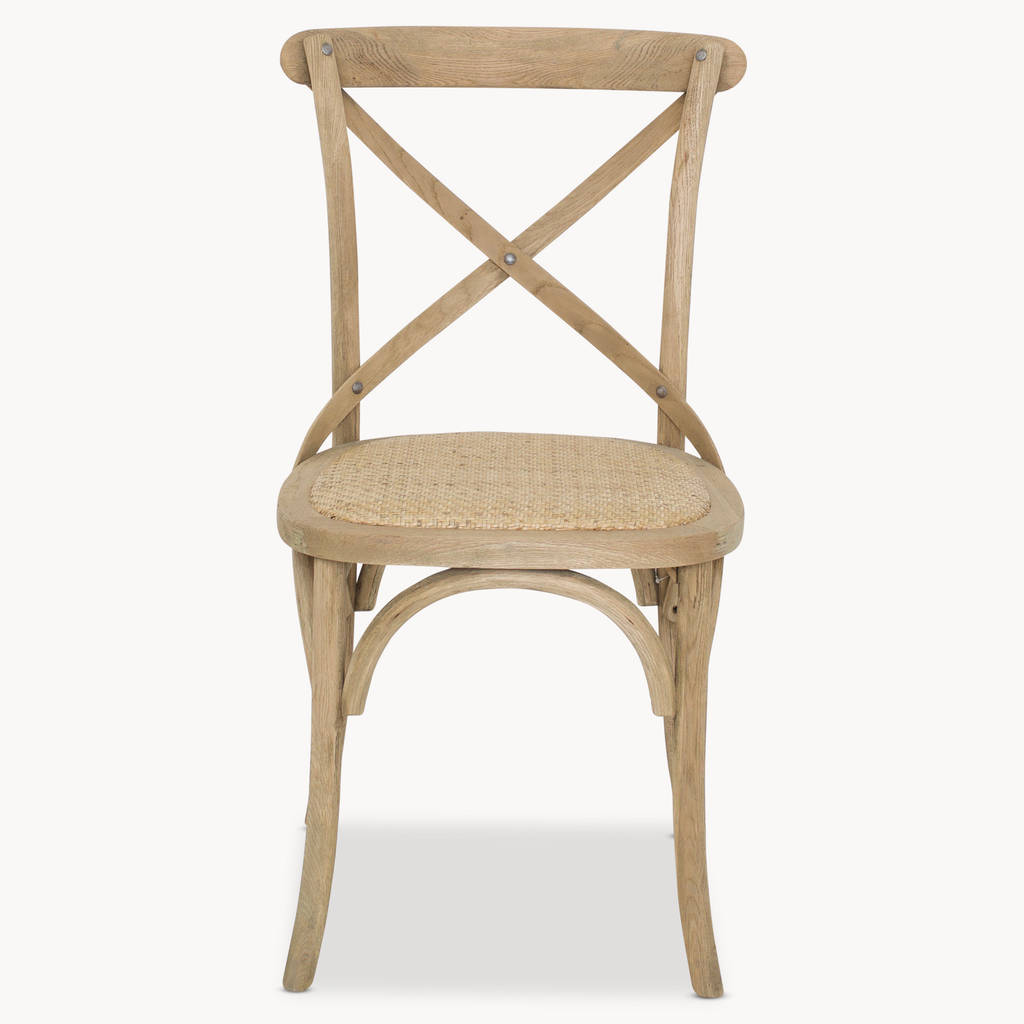 hanging chair notonthehighstreet home depot lounge chairs sandhurst crossed back dining with rattan seat by