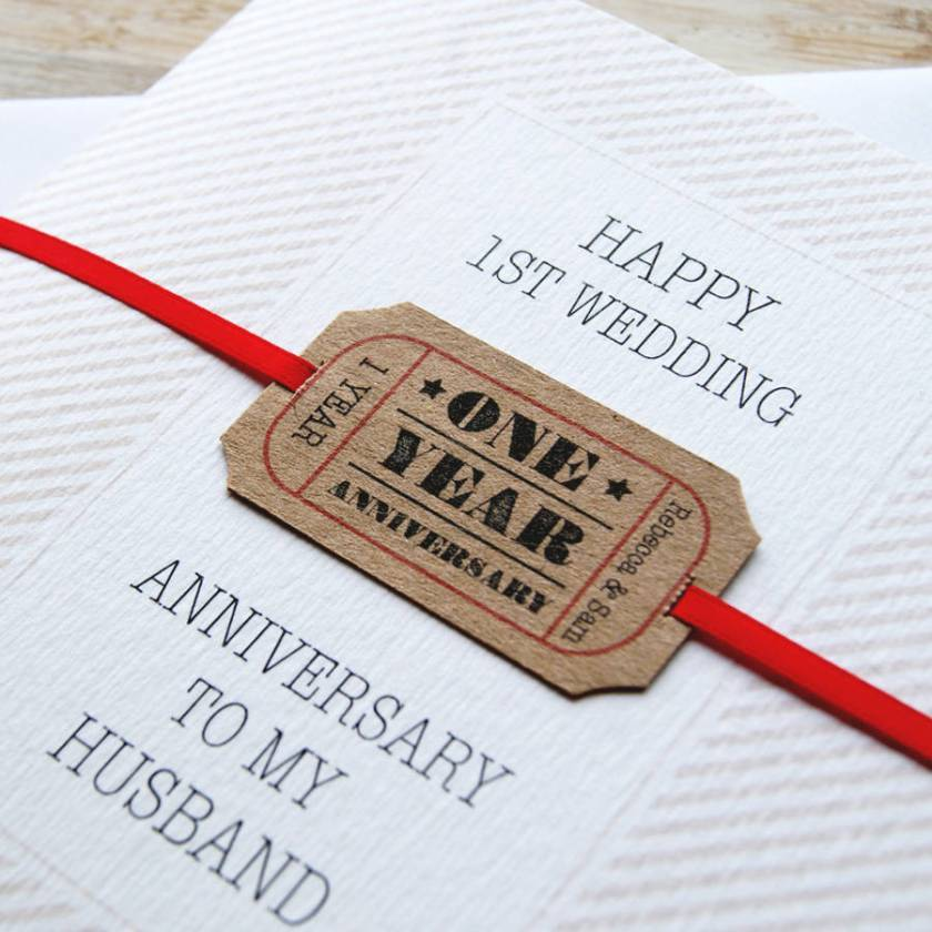 Personalised First Wedding Anniversary Card