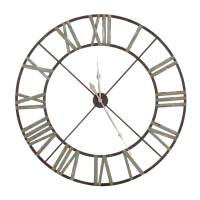 wrought iron wall clock in black or green by out there ...