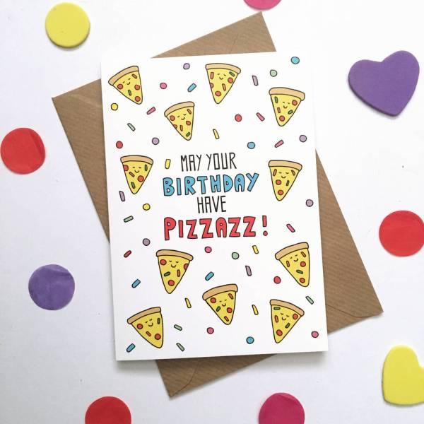 Pizza Birthday Card Funny Ladykerry