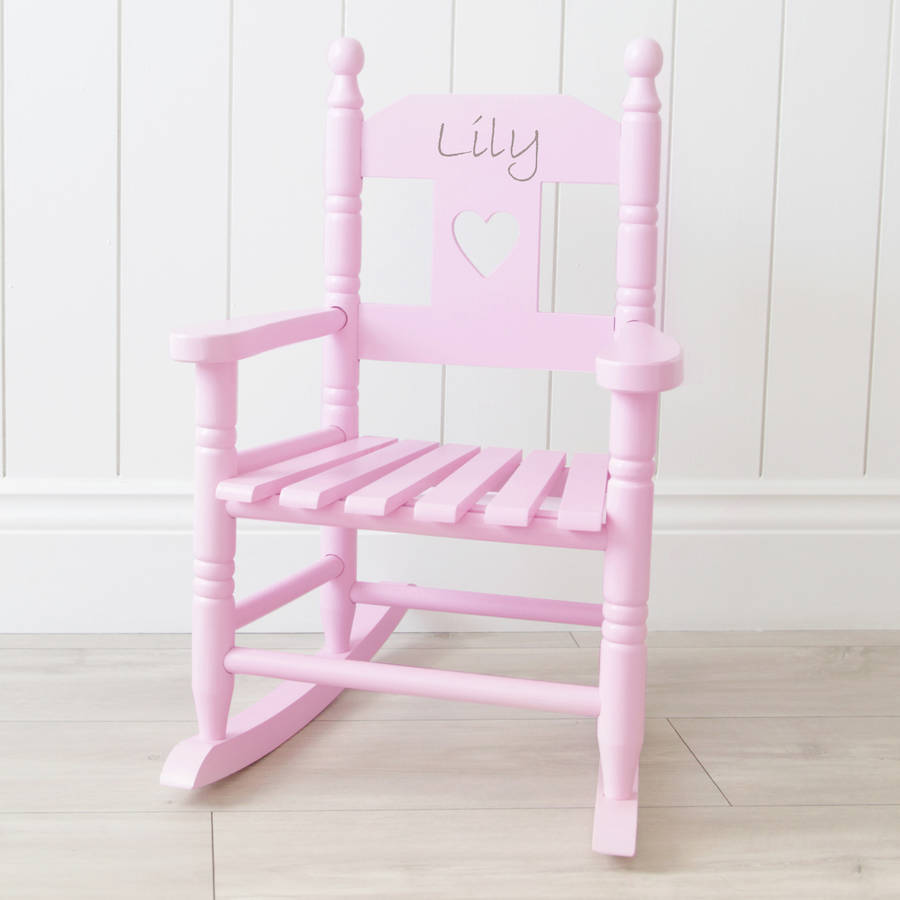 personalised pink childrens rocking chair by my 1st years