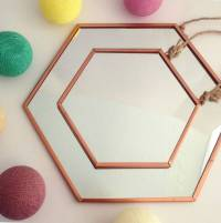 hexagonal copper mirrors by posh totty designs interiors ...