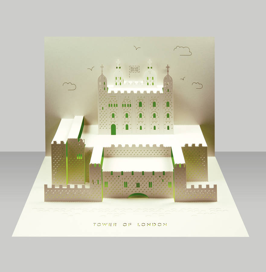 Tower Of London Pop Up Card By Paper Tango