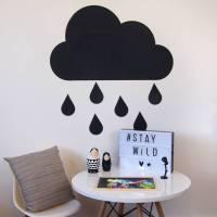 chalk board rain cloud wall stickers by parkins interiors ...