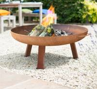 large industrial style steel firepit by oxford barbecues ...