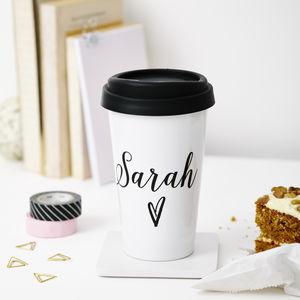 personalised name travel mug