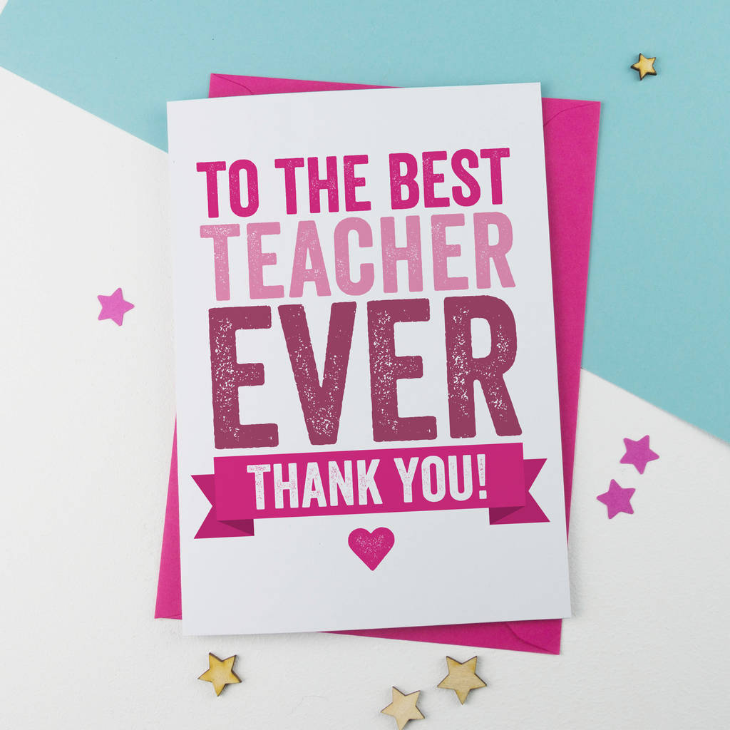 Thank You Teacher Card By A Is For Alphabet