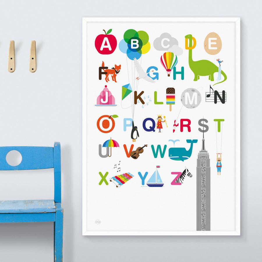 alphabet print by showler and showler notonthehighstreetcom