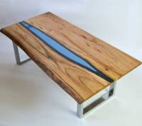resin river coffee table on steel base by frances bradley ...