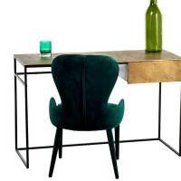 emerald green velvet cocktail chair by ella james