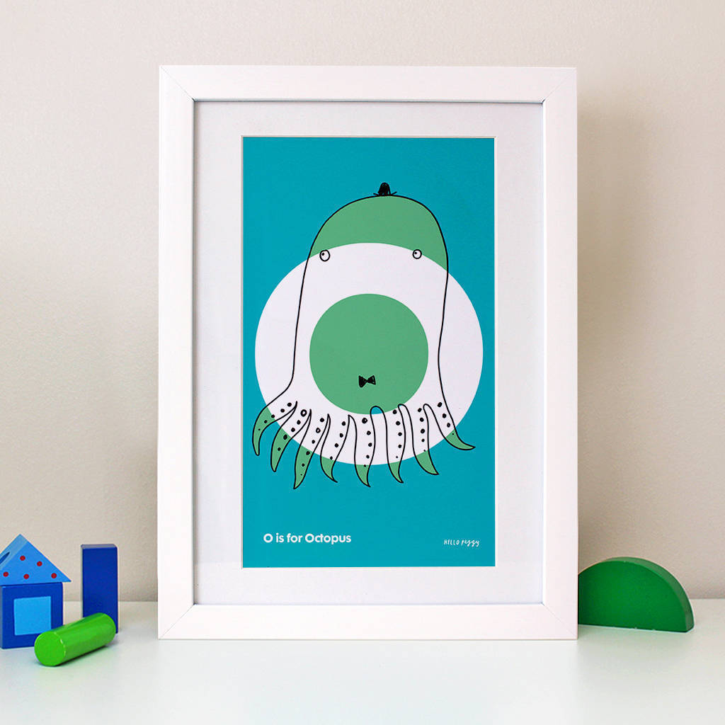 Framed Initial Alphabet Block Colour Children S Print By Hello Peggy