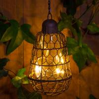 outdoor solar pendant bulb hanging light by red lilly ...