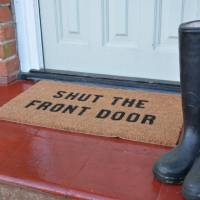 shut the front door doormat by more than words ...