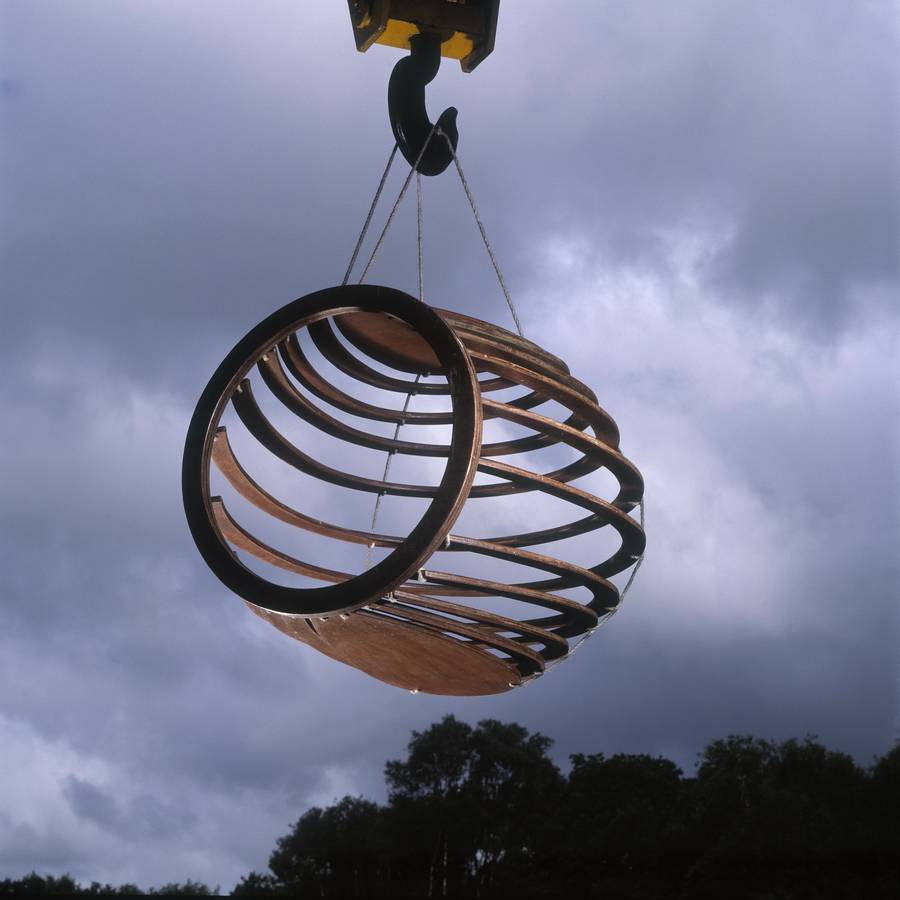 hanging chair notonthehighstreet the larry hive by rawstudio com
