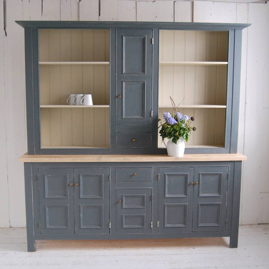 gray panelled kitchen dresser by eastburn country furniture  notonthehighstreetcom