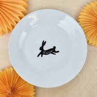 personalised bunny rabbit dinner plate by ellie ellie ...