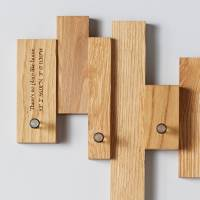 oak blocks coat rack by mijmoj design